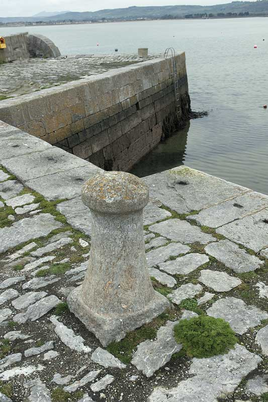 Bollard at Ballynacourty